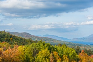 Mountainous terrain of the Adirondacks in the Lake George region.